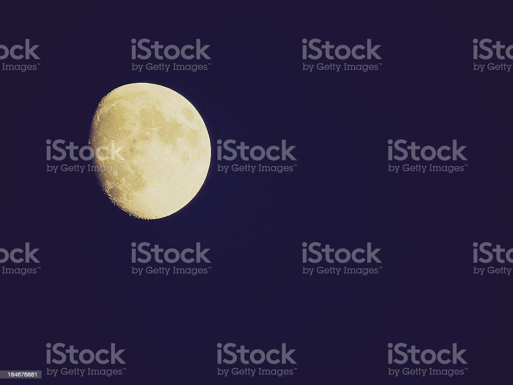 Retro look Full moon royalty-free stock photo