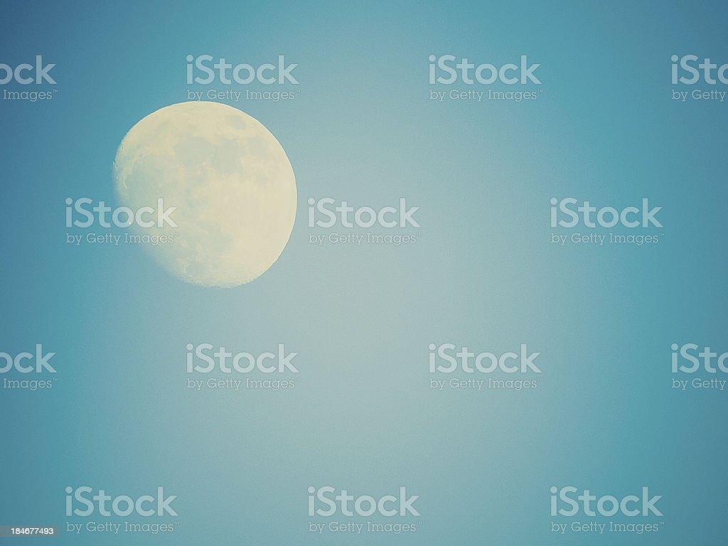 Retro look Full moon royalty-free stock photo