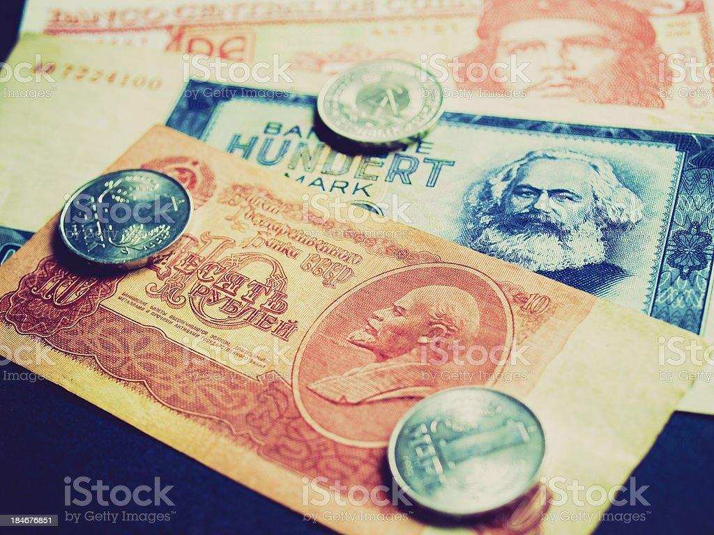 Retro look Money stock photo
