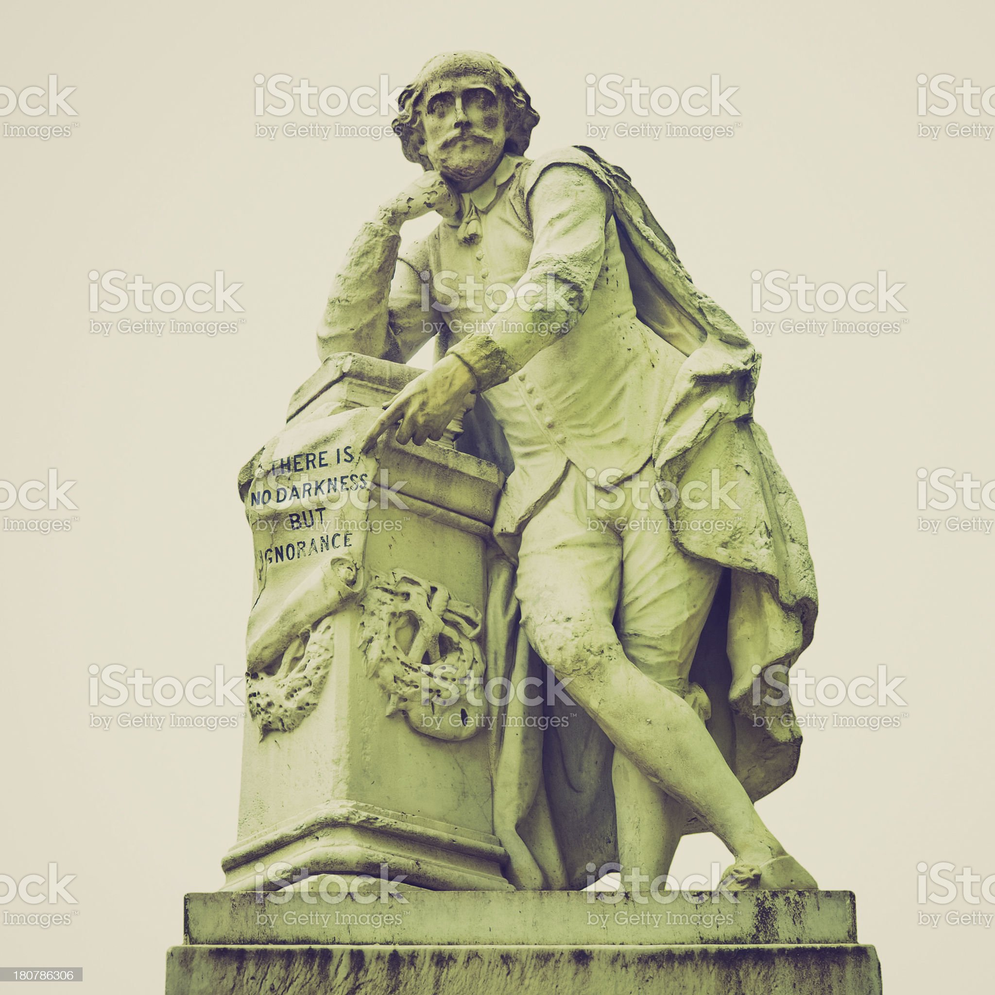 Retro look Shakespeare statue royalty-free stock photo