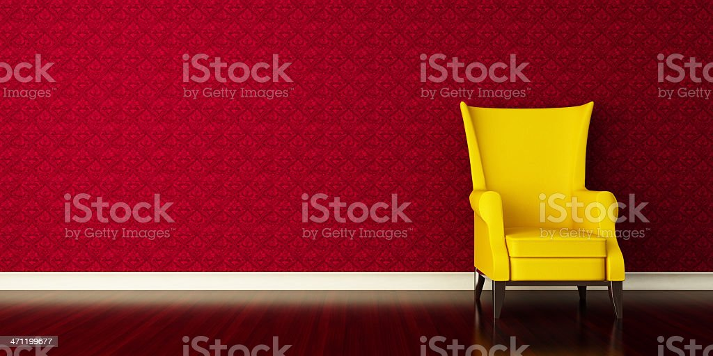 Retro Lounge Room royalty-free stock photo