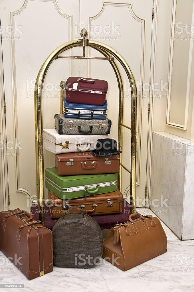 Retro Luggage stock photo