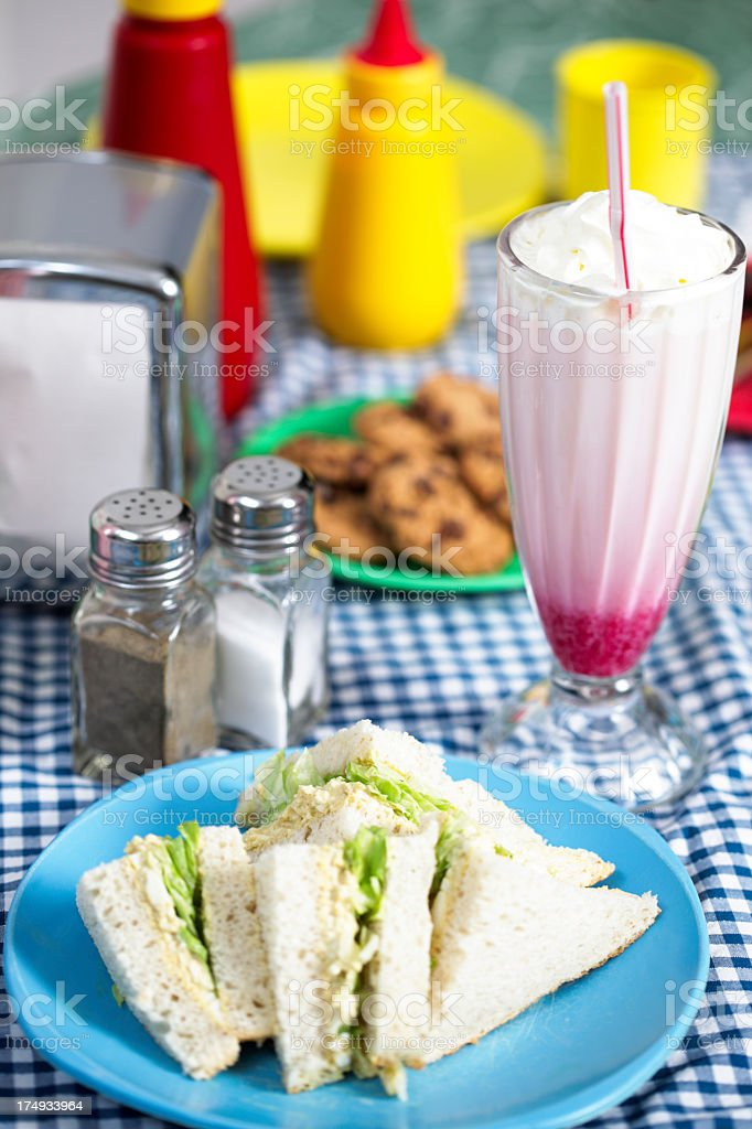 Retro Lunch royalty-free stock photo