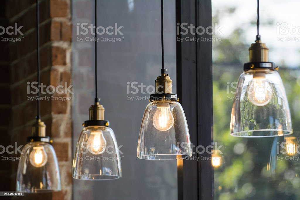 retro luxury light lamp stock photo