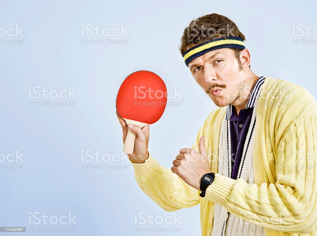 Retro male stock photo