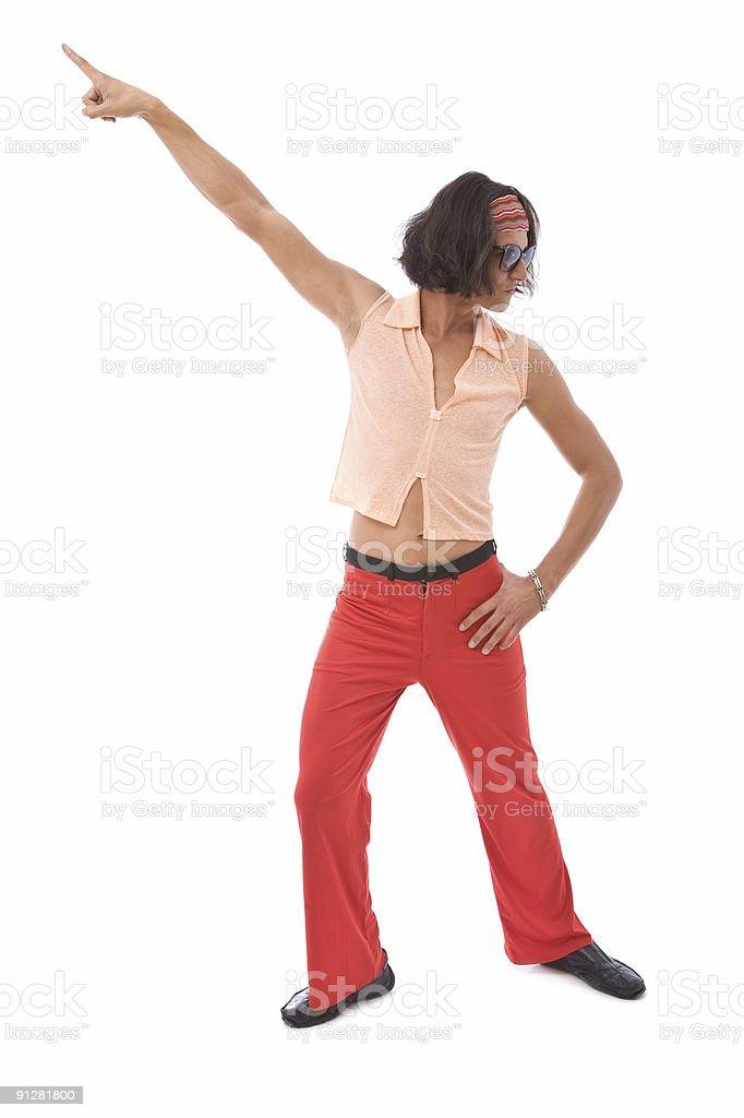 retro man dancing royalty-free stock photo