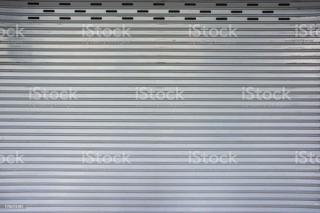retro matel garage door pattern royalty-free stock photo