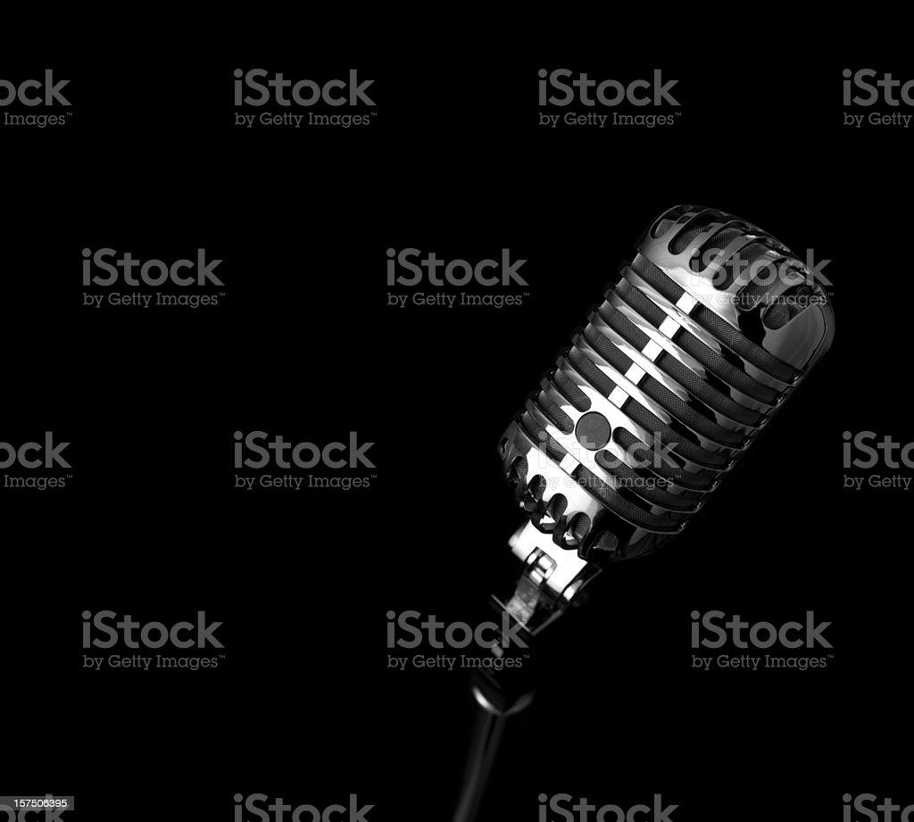 Retro Microphone (XXXL) royalty-free stock photo