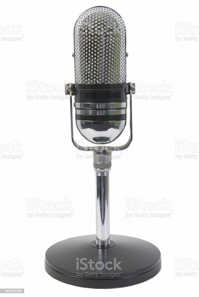 Retro microphone royalty-free stock photo