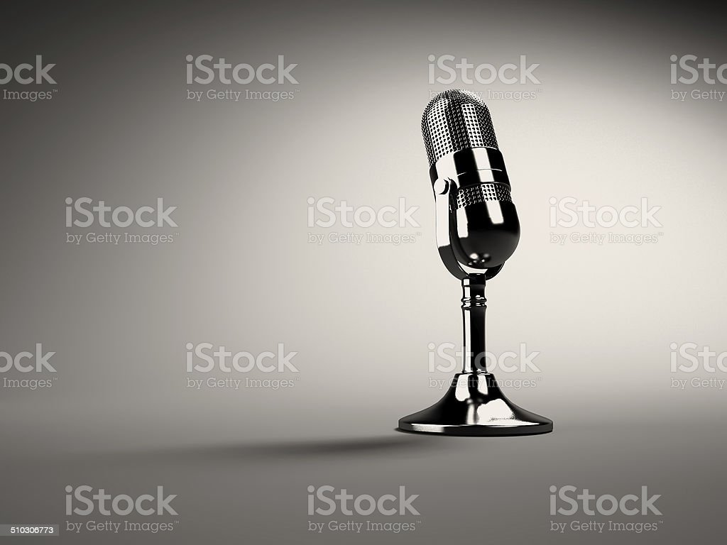 Retro microphone stock photo