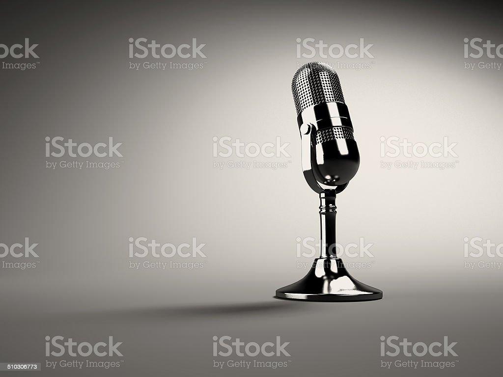 Retro microphone stock photo