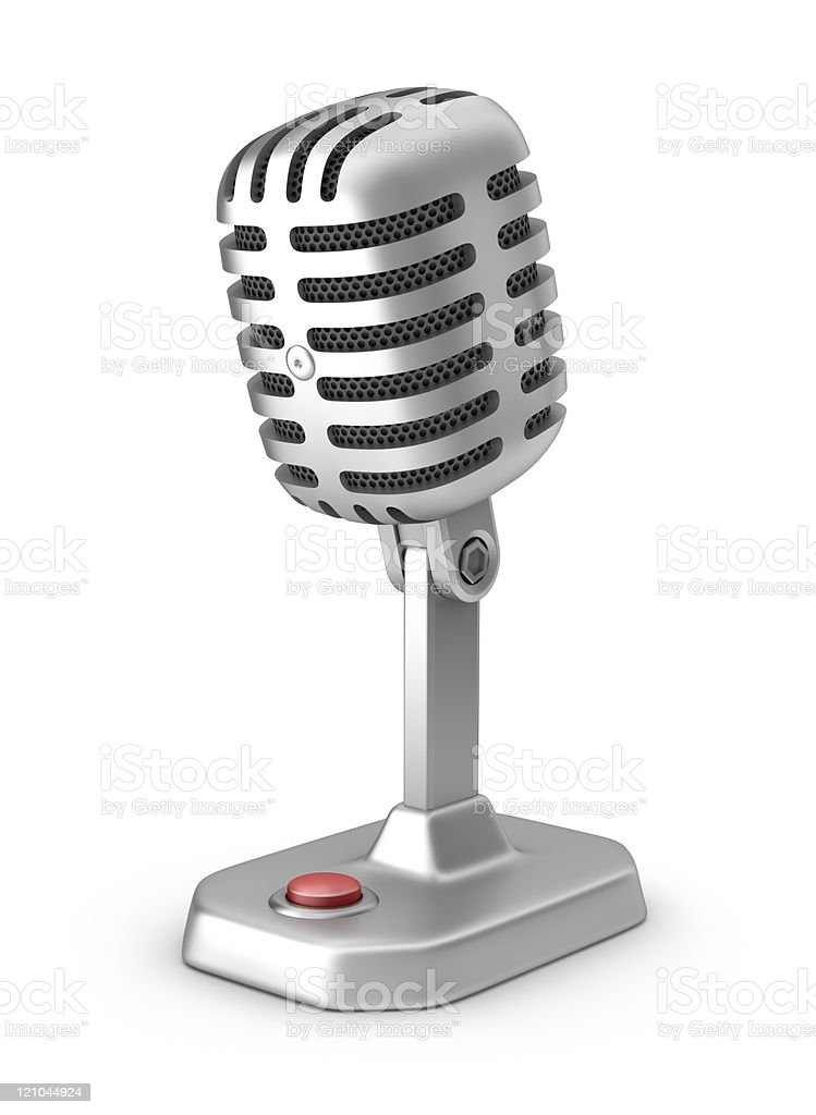Retro microphone with button royalty-free stock photo