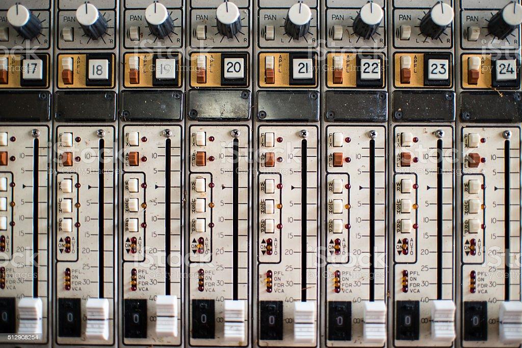 Retro Mixer channels stock photo