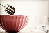 Retro Mixing Bowl with Chocolate Batter