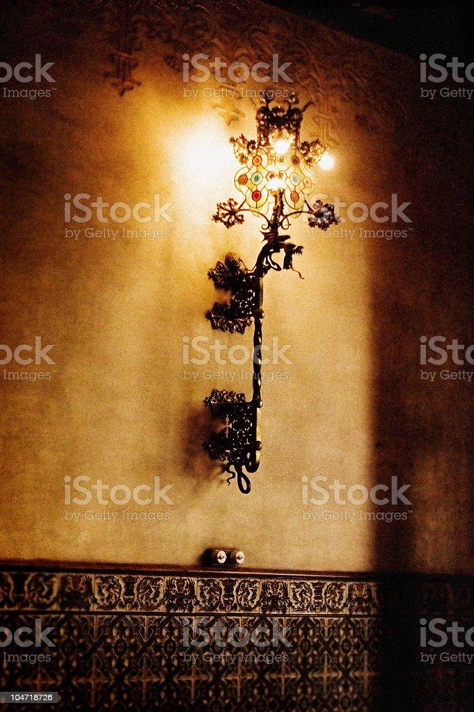Retro modernista's lamp stock photo