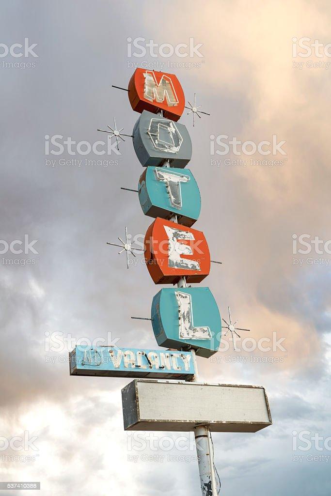 Retro Motel Sign stock photo