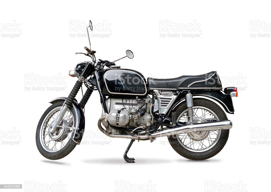 Retro motorcycle stock photo