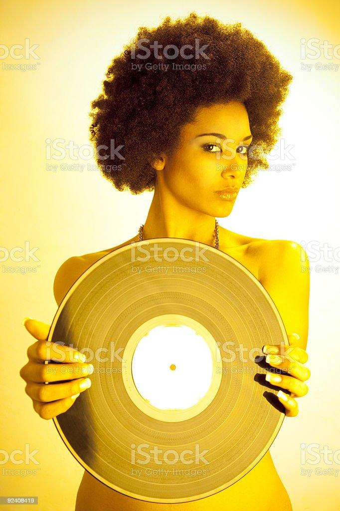 Retro Motown woman royalty-free stock photo