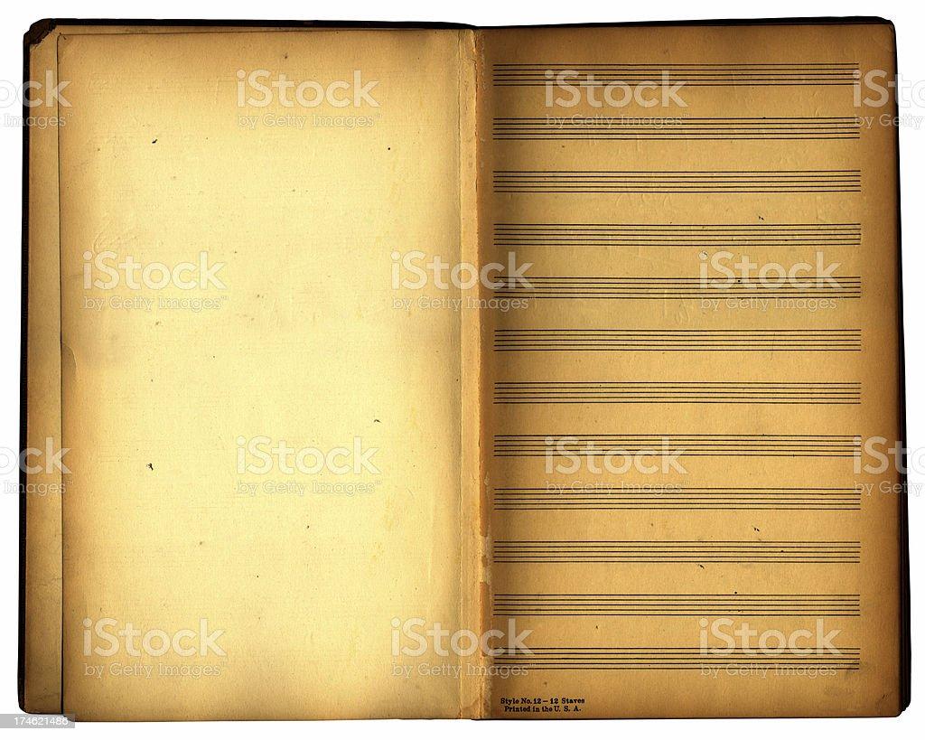 retro musical notes book royalty-free stock photo