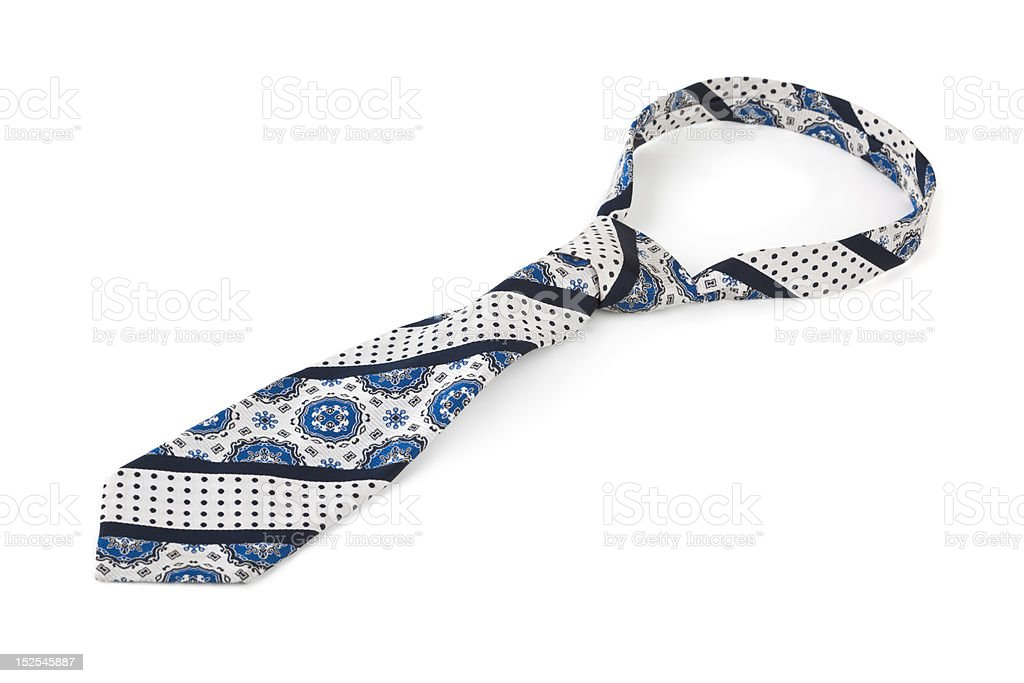 Retro necktie stock photo