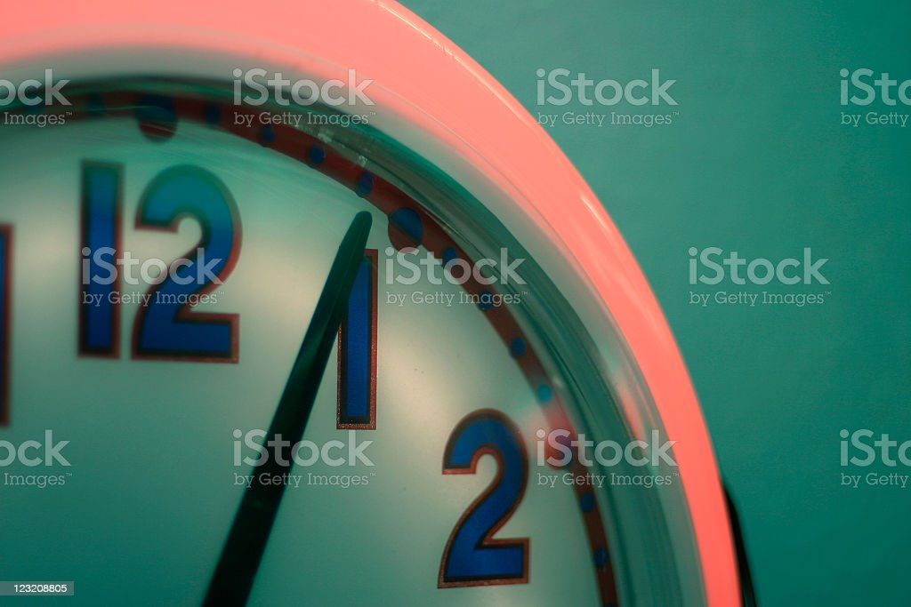 Retro Neon Clock royalty-free stock photo