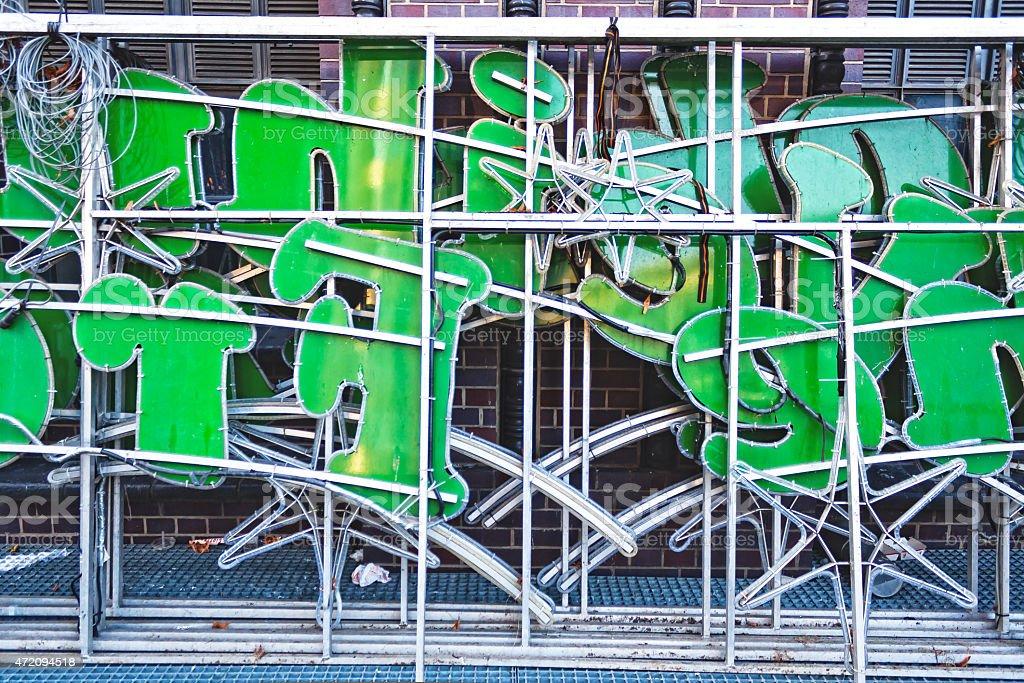 Retro neon sign stock photo