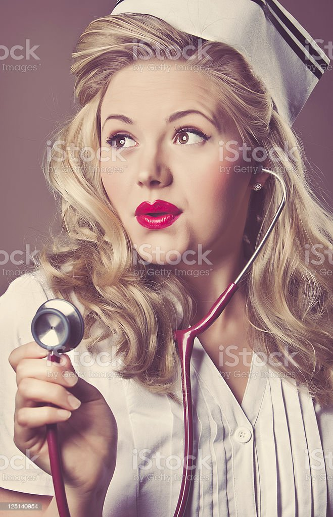 Retro Nurse stock photo