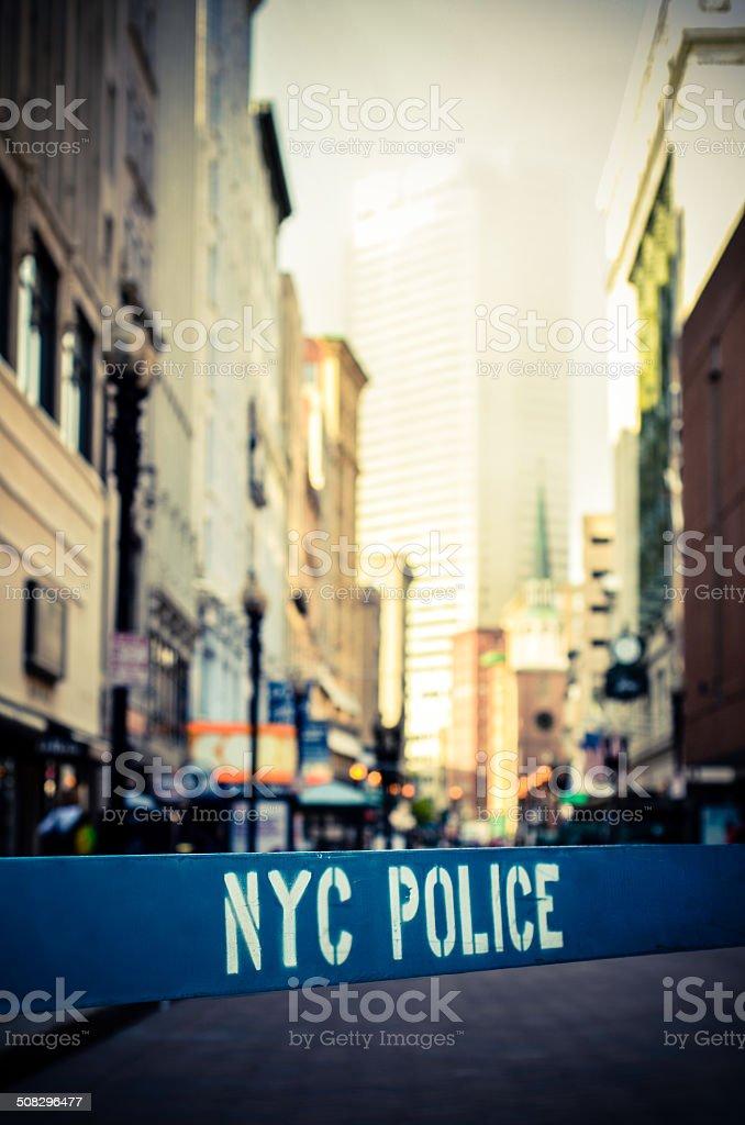 Retro NYC Crime Scene stock photo