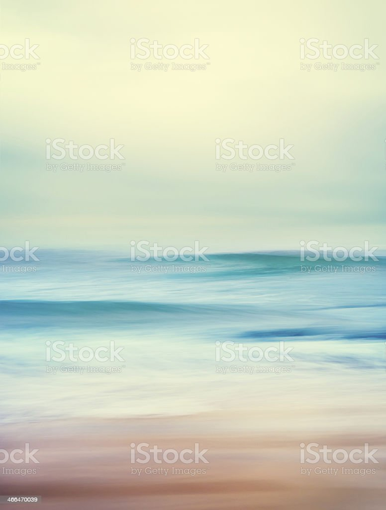 Retro Ocean Waves stock photo