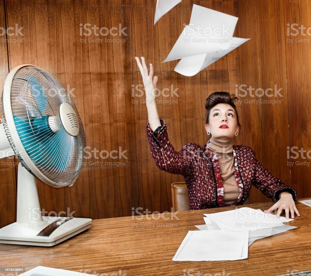 Retro office stock photo