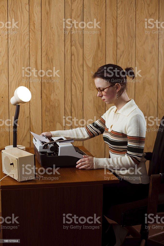 Retro Office Secretary stock photo