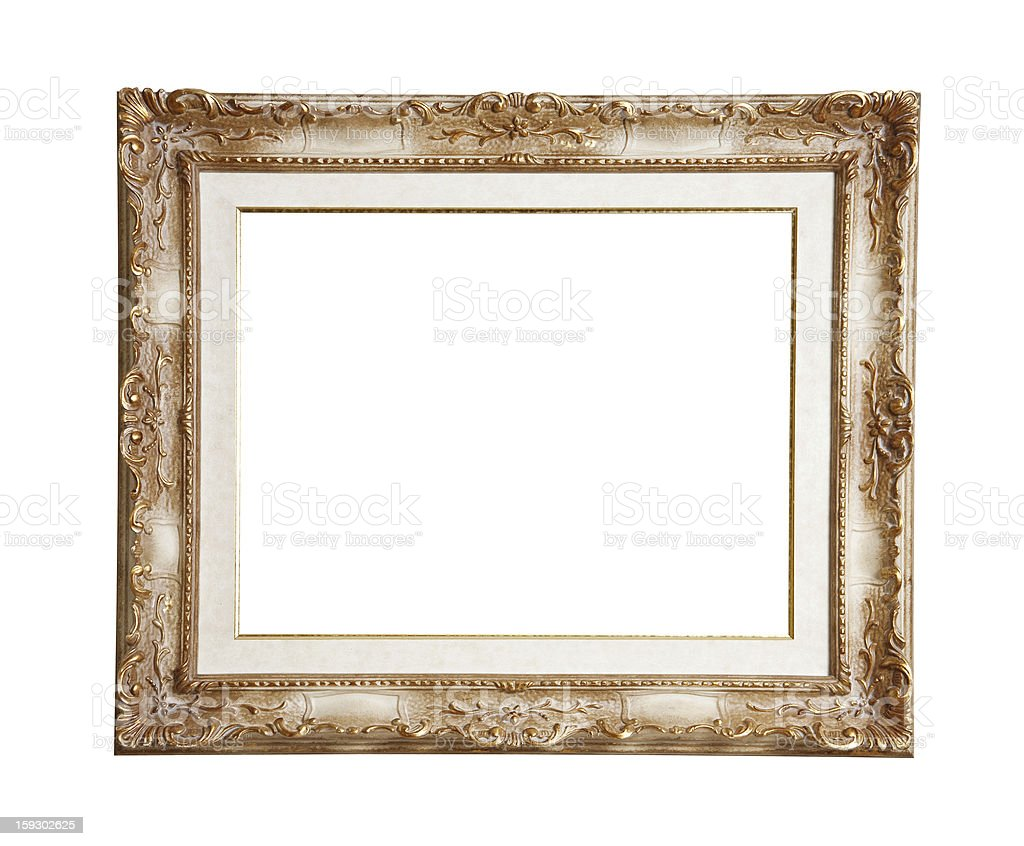 Retro old  picture  frame, isolated on white royalty-free stock photo