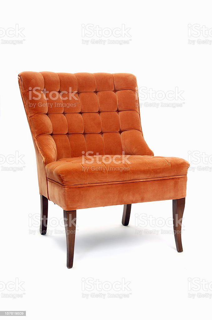 Retro Orange Armchair royalty-free stock photo