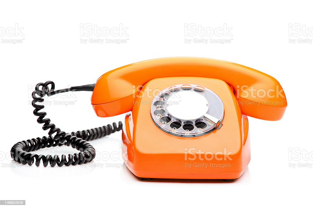 Retro orange phone royalty-free stock photo