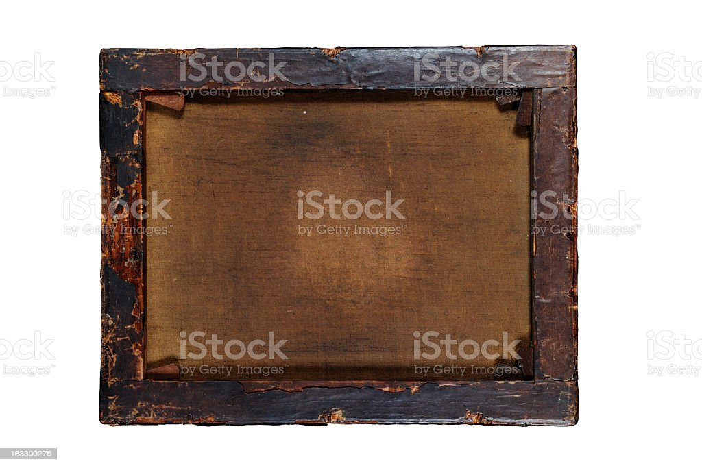 Retro Painting Back with PATH royalty-free stock photo