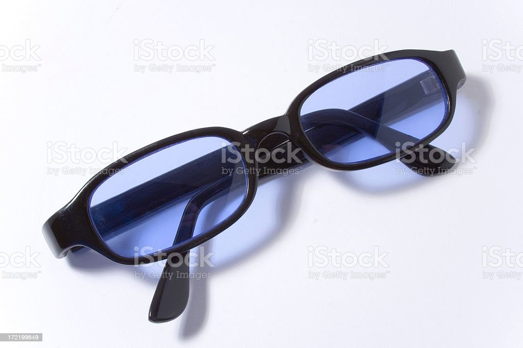 retro pair of cool blue sunglasses royalty-free stock photo