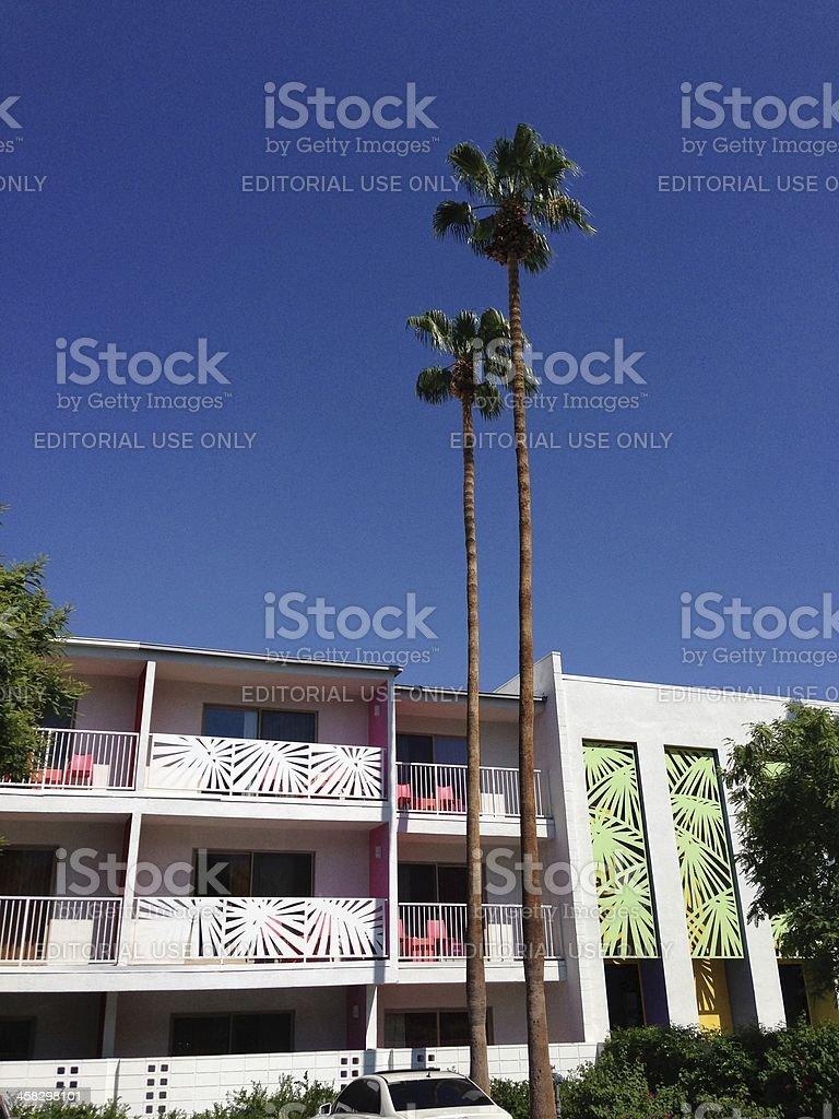 Retro Palm Springs Hotel royalty-free stock photo