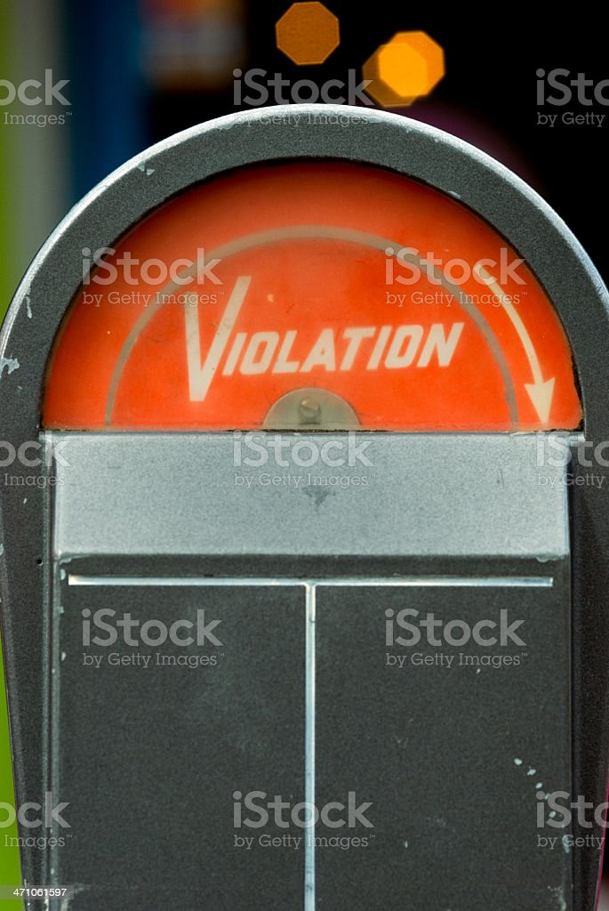 Retro Parking Meter royalty-free stock photo