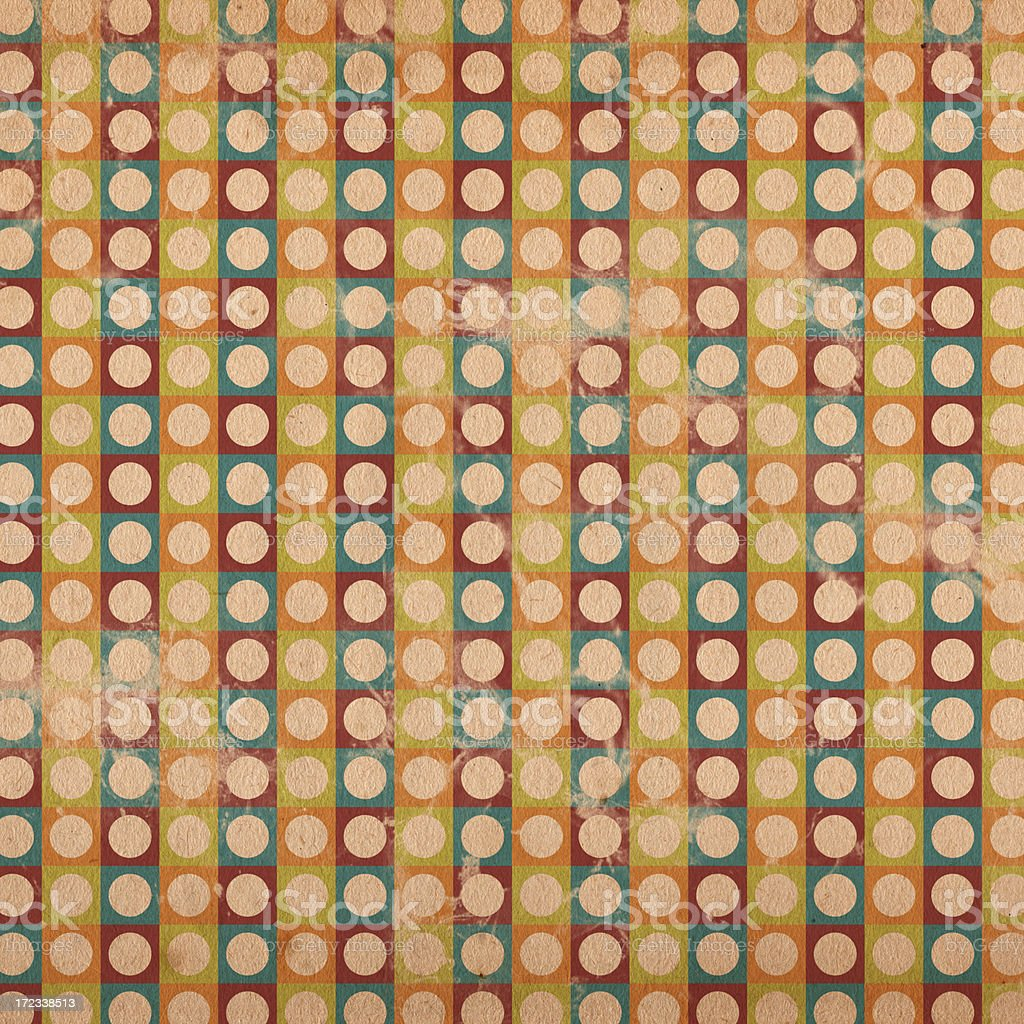 Retro Pattern Square XXL royalty-free stock photo