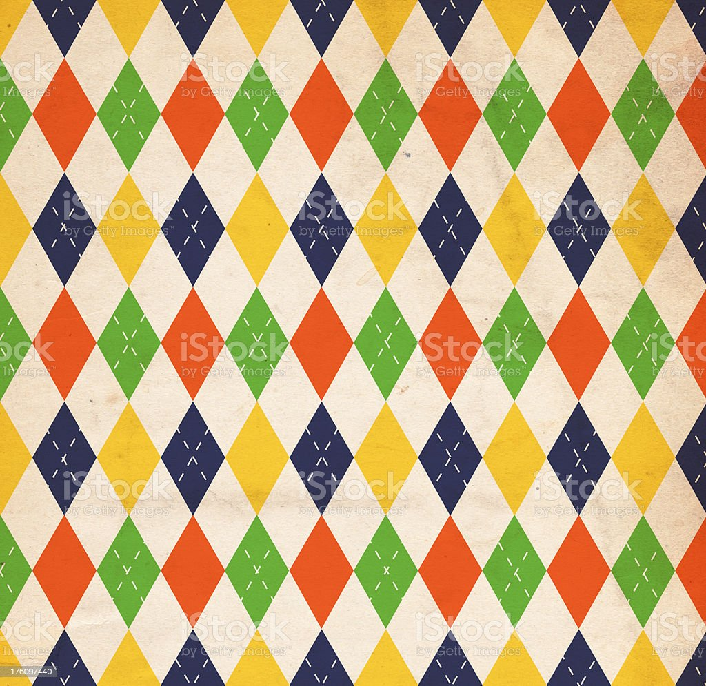 Retro Patterned Paper stock photo