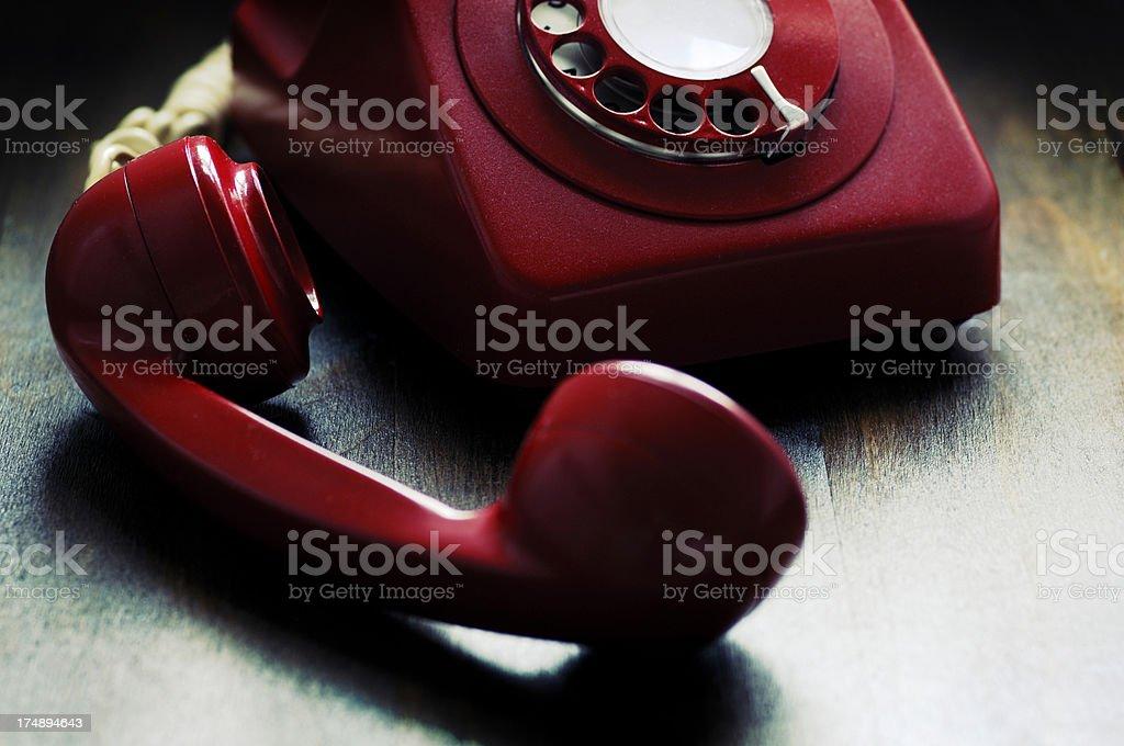 retro phone off the hook royalty-free stock photo