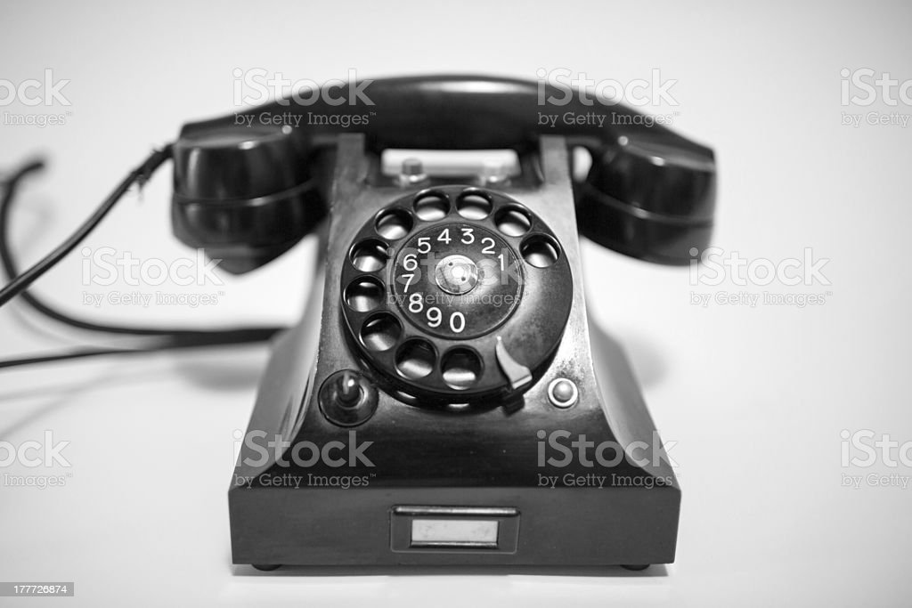 Retro phone royalty-free stock photo