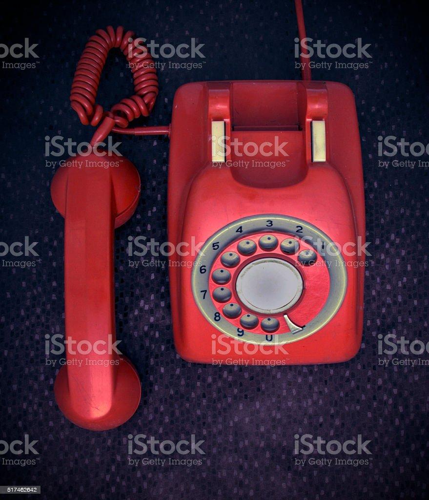 retro phone stock photo