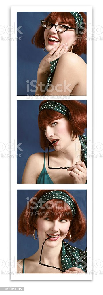 Retro Photo Booth Pictures royalty-free stock photo