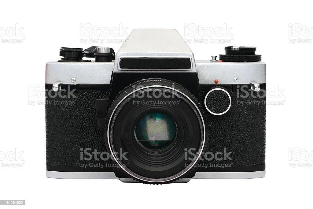 Foto de cámara Retro frontally foto de stock libre de derechos