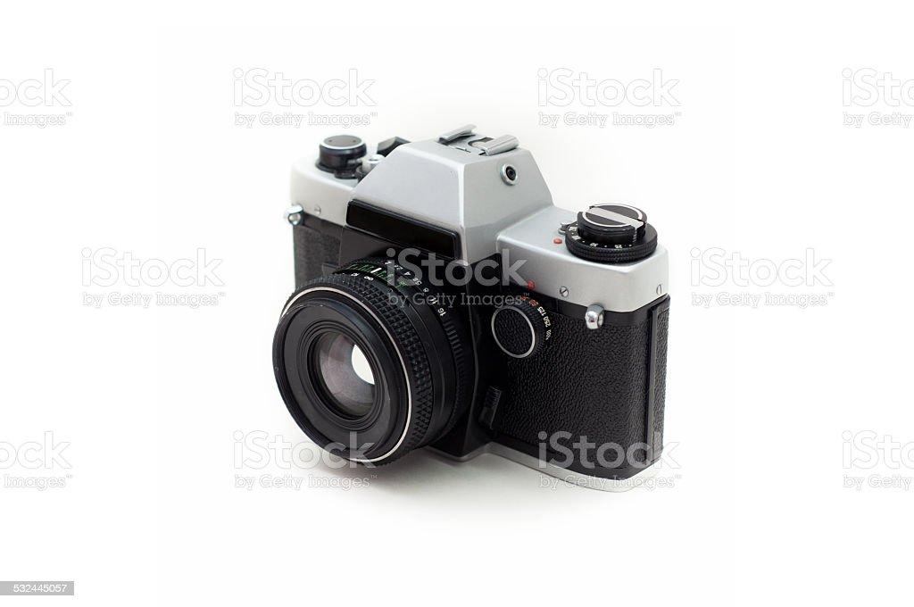 Foto de cámara Retro aislado sobre un fondo blanco foto de stock libre de derechos