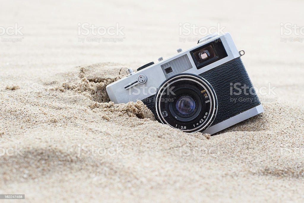 Retro photo camera royalty-free stock photo