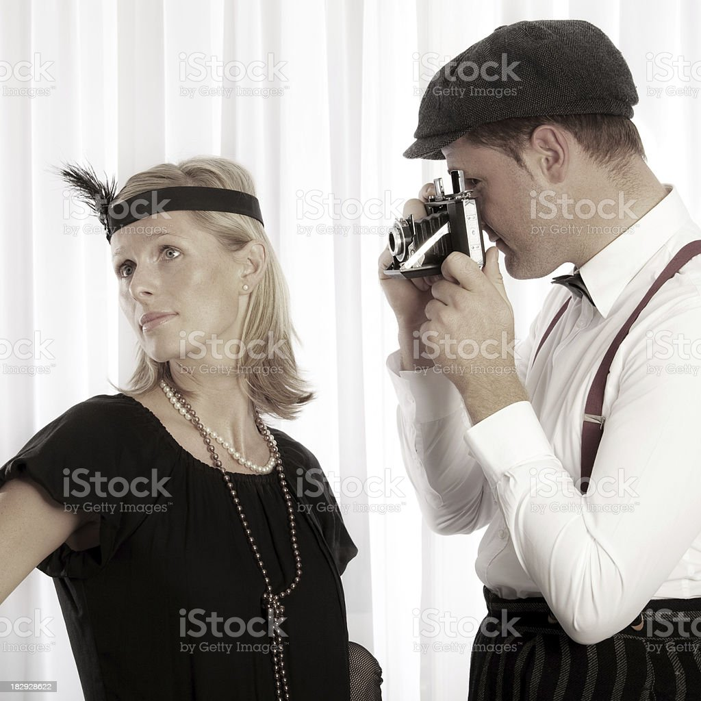 Retro photo shooting royalty-free stock photo