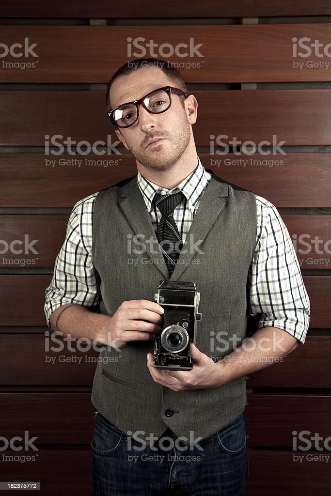 Retro Photographer stock photo