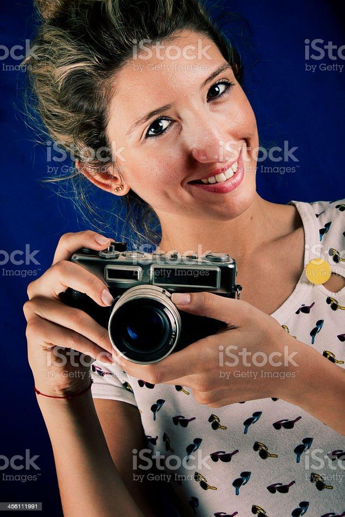Retro Photographer royalty-free stock photo